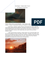 artist report