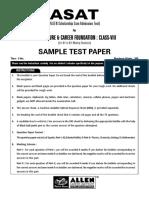Allen Paper Class Viii(Vii Viii)