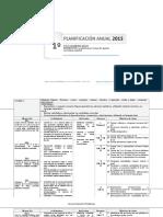 Planificacion Anual Matematica 1basico 2015