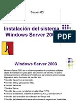 Sesión 03 Instalacion de Servido Window 2003