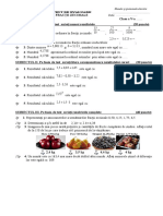 Test Fractii Zecimale