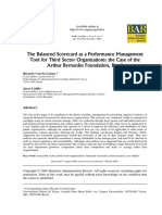 The Balanced Scorecard as a Performance Management Tools for Third Sector Organisations