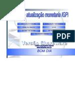 Calculo Correcao Igpm Demonstracao