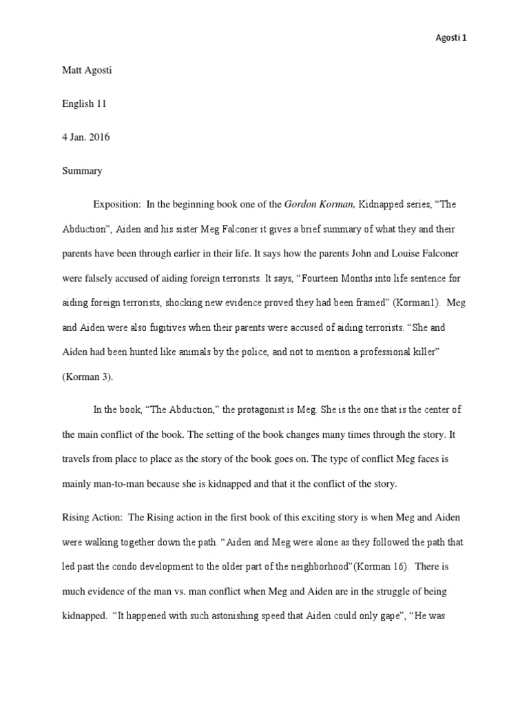 11thauthorstudy1 | Kidnapping | Violence