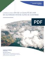 Le rapport provisoire 2016 sur la qualité de l'Air en Auvergne-Rhône-Alpes