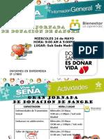 Jornada de Donación de Sangre y Consulta Medica Subsede Madrid Mayo 2017