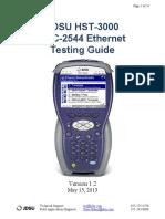 JDSU HST-3000 RFC-2544 Ethernet Testing Guide