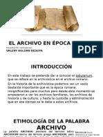 El Archivo en Época Romana