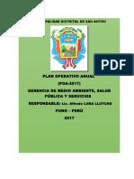 Plan Operativo Anual Medio Ambiente 2017