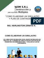 PRESENTACION DE COMO HACER UN SIMULACRO Y PLAN DE CONTINGENCIA.ppt