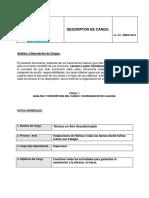3.-Descripción y Análisis de Cargo Tecnico en Aire Acondicionado