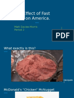 the effect of fast food on america  matt davies-morris p 2