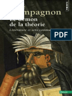 Le Démon de La Théorie - Littérature Et Sens Commun