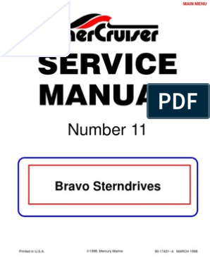 Merc Service Manual 11 Bravo Stern Drives | Gear | Bearing