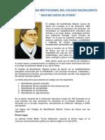 """62 años de vida institucional del Colegio de Bachillerato """"Beatriz Cueva de Ayora"""""""