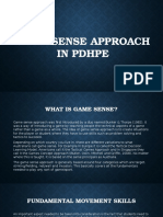 game sense approach in pdhpe