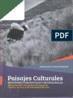 Paisajes Culturales y Sus Enfoques Desde
