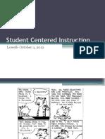 Student Centered Mathematics