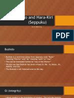 bushido and hara-kiri  seppuku