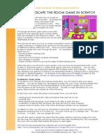 PDF Escape the Room Scratch Draggable Using Lock Button