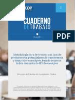 Metodologia Productos Potencial IPP Tecnologico