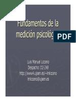 Fundamentos de La Medicion Psicometrica