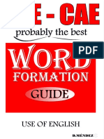 FCE Word Formation Use of English