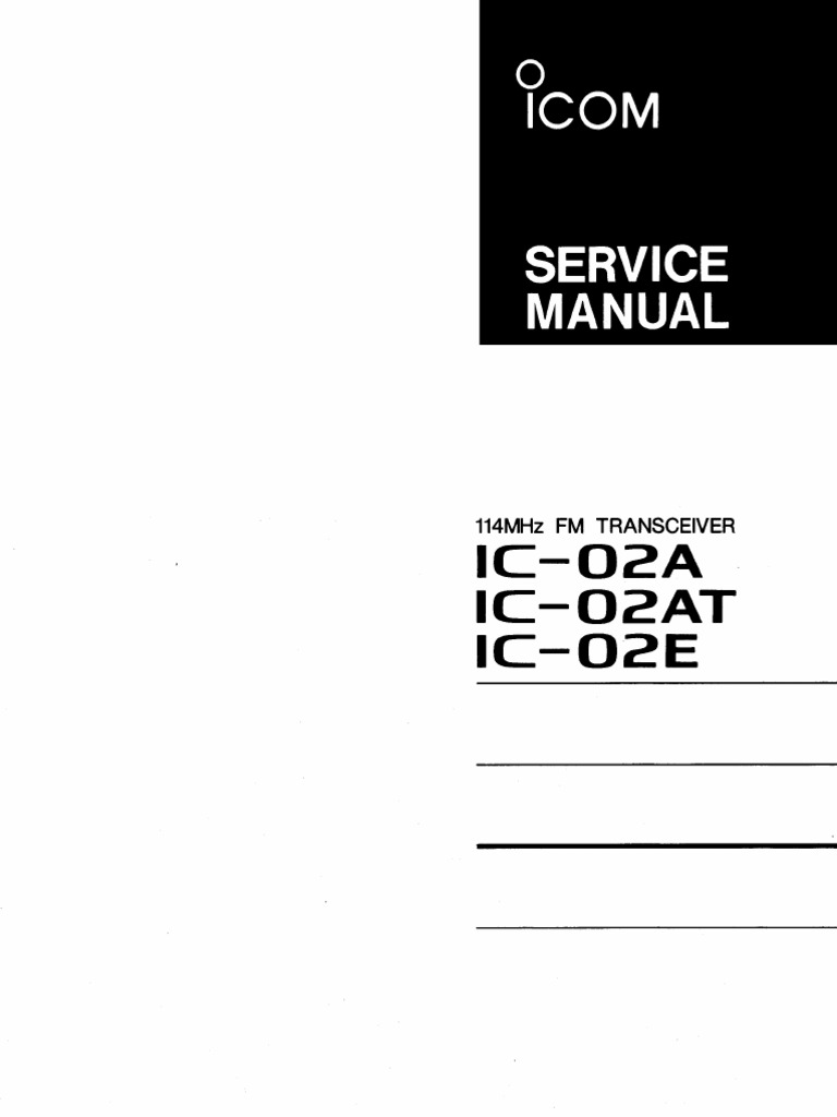 Icom ic-02at user manual user/owners/instruction manual.