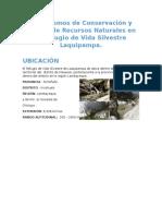 Mecanismos de Conservación y Manejo de Recursos Naturales en La Refugio de Vida Silvestre Laquipampa