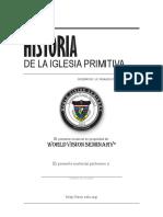 [LTH-010] - Historia de La Iglesia Primitiva - Lic. Otoniel Sanchez