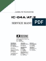 ICOM IC-04AT Service Manual