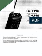 Icom IC-H16 IC-U16 Owners Manual