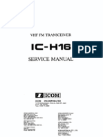 ICOM IC-H16 Service Manual