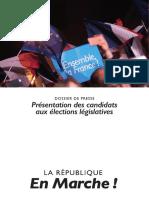 """Liste des investis """"République en marche"""" aux élections législatives 2017"""