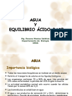 Agua PH y Equilibrio Acido Base 2017