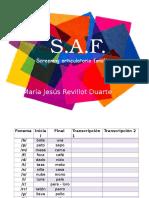 SAF Sreening articulatorio fonologico