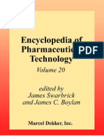 Encyclopedia of Pharmaceutical Technology, Volume 20