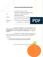 Informe Nº 18 Supervisor Mantenimiento