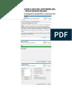 Instalacion y Uso Del Software Del Registrador Dx1000