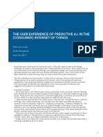 The UX of Predictive AI in the IoT (Rosenfeld To Be Designed 2017)