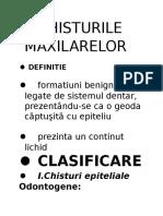 CHISTURILE MAXILARELOR