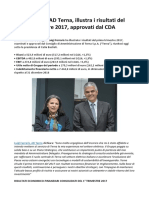 Luigi Ferraris, AD Terna, Illustra i Risultati Del Primo Trimestre 2017, Approvati Dal CDA