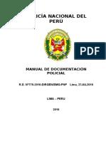 Manual de Documentación Policial 2016
