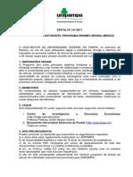 Edital 141-2017 Intercambio Estudantil Bramex