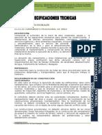 Especificaciones Tecnicas Accesos Viales San Antonio