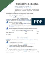 Sintaxis I Preposiciones Conjunciones y Grupos