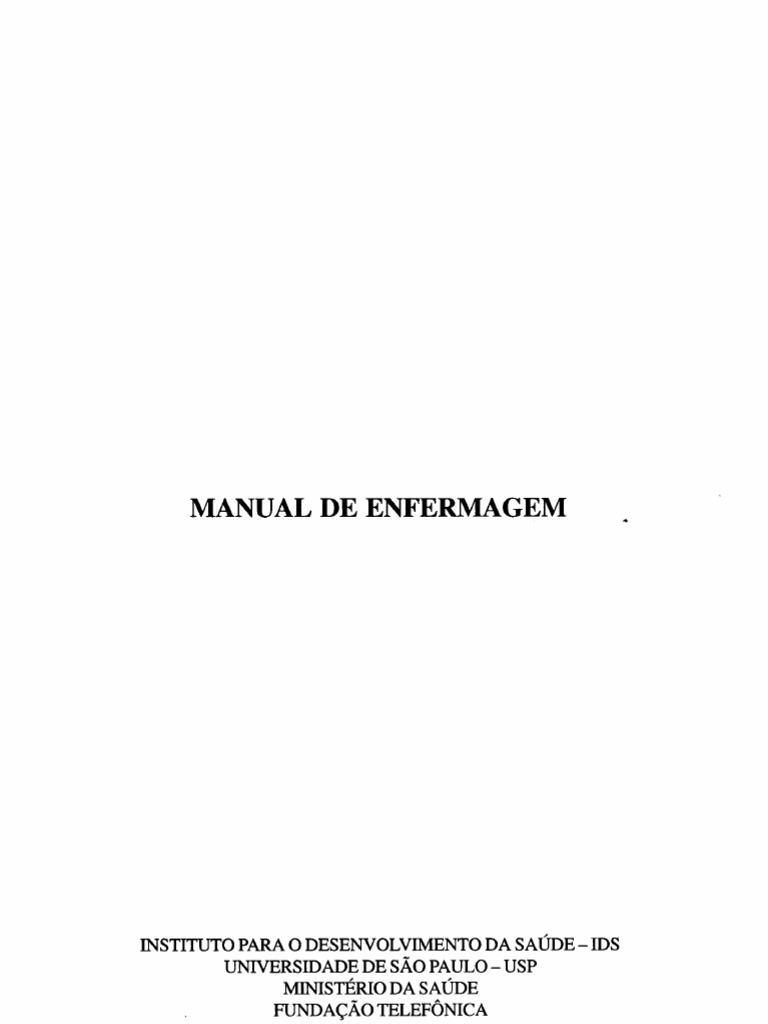 Livro manual de enfermagem usp ministerio da saude fandeluxe Choice Image
