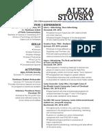 lexi stovsky resume