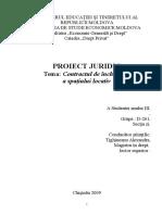 Contractul de Inchiriere a Spatiului Locativ