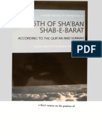 A Short Treatise on the Position of 15th of Sha'ban Shab-e-Barat According to the Qur'an and Sunnah - Islamic Institute of Da'wah and Research